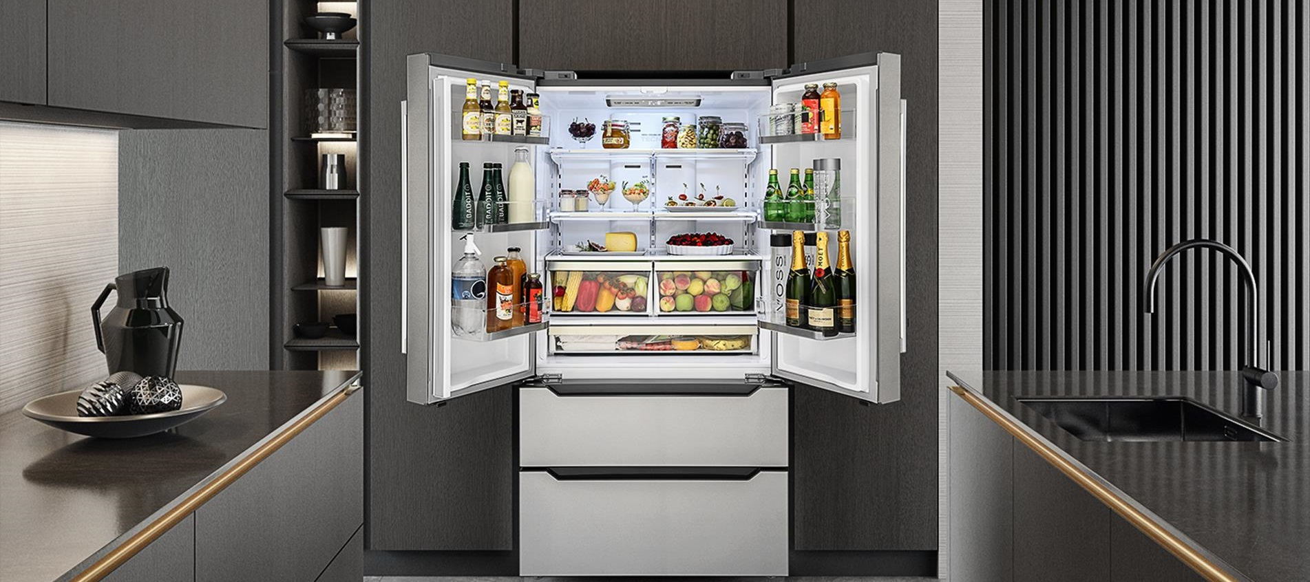 Refrigerador de piso e de embutir Tecno TR65 FXDA.