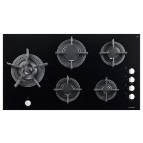 Ampla mesa com superfície vitrocerâmica em vidro espelhado: beleza com elevada qualidade e resistência que permite utilizar panelas de grandes dimensões.