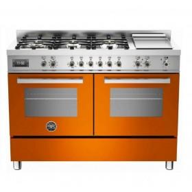 Design Profissional: com a exclusiva combinação do acabamento em aço inox escovado com o tom vermelho italiano Bertazzoni.