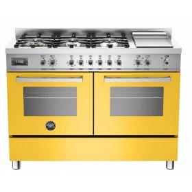 Design Profissional: com a exclusiva combinação do acabamento em aço inox escovado com o tom amarelo italiano Bertazzoni.