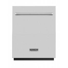 Lava louças de embutir com porta e puxador tubular em inox TECNO Professional TD14 EXDP.