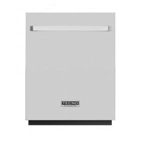 Lava louças de embutir com porta em inox e puxador retangular TECNO Original TD14 EXDO.